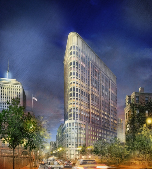 12x12 Pencil Image Liberty Mutual CBT Architects Boston Night View